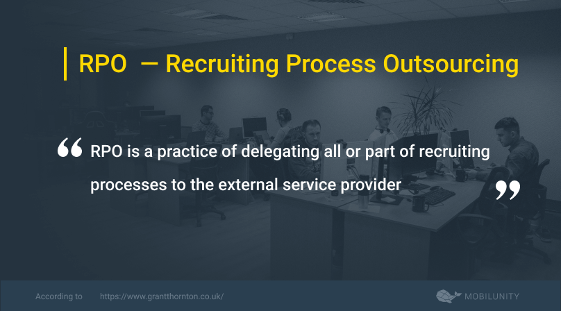 recruiting process outsourcing or rpo definition