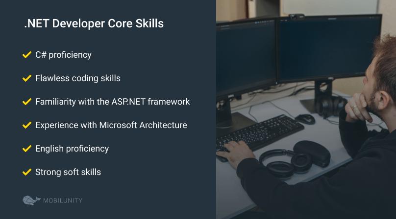 skills of .NET developer for hire