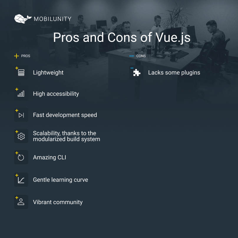 vue.js development advantages and disadvantages