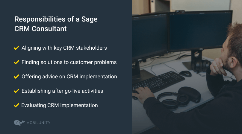 Sage CRM consultant roles and responsibilities