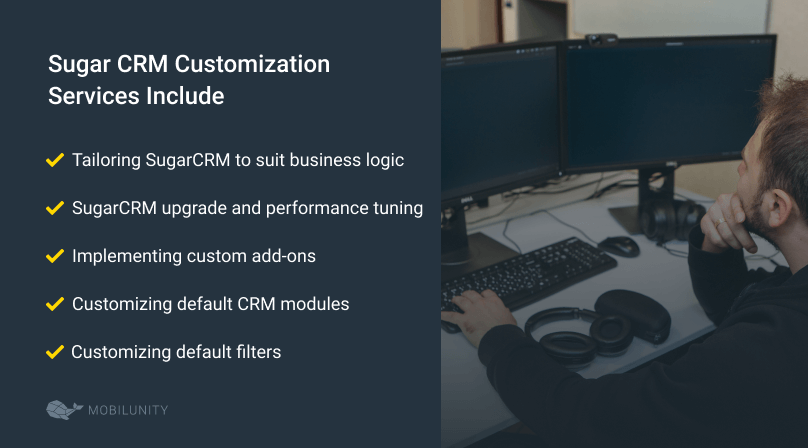 SugarCRM customization services list
