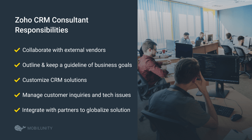 Zoho implementation consultant responsibilities