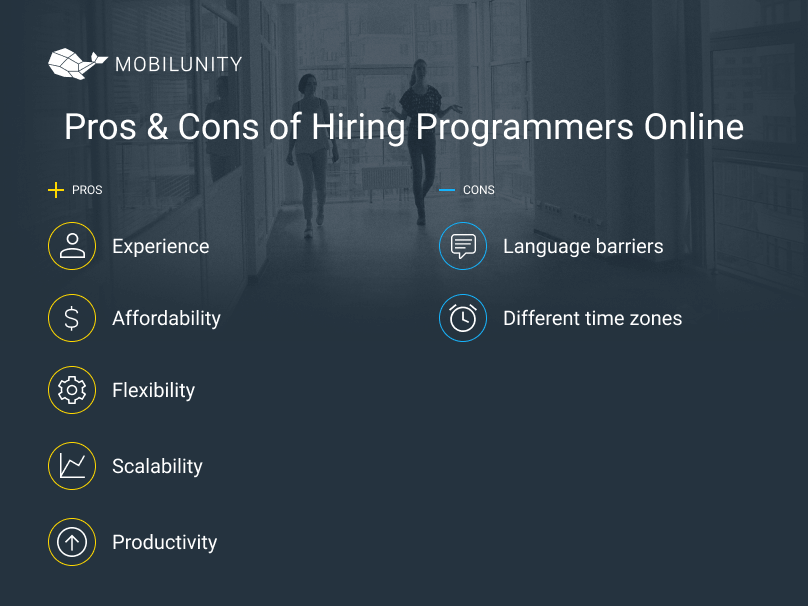 pros and cons to find a programmer