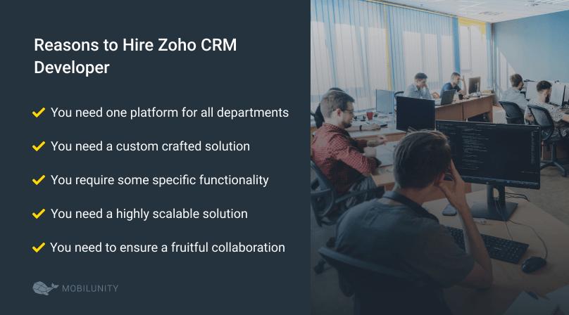 reasons to hire zoho crm developer