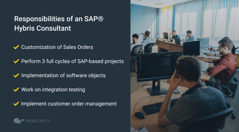 responsibilities of an SAP hybris consultant