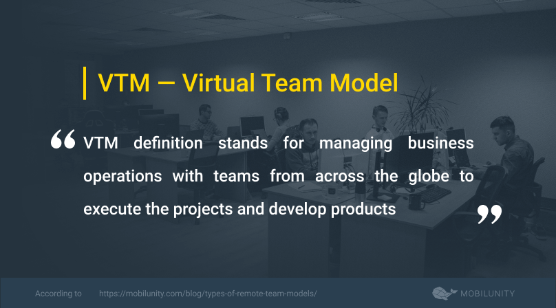 virtual team model or vtm definition