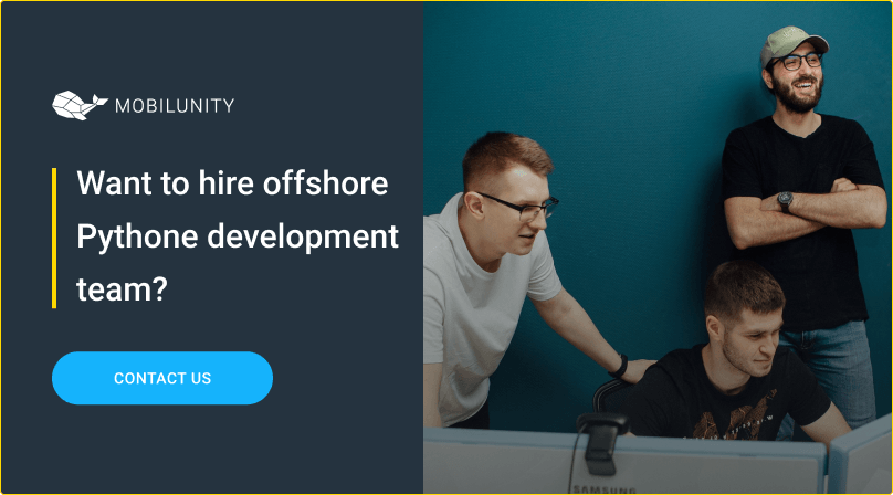 hire offshore python development team at mobilunity