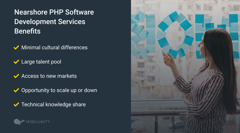 nearshore PHP software development services benefits