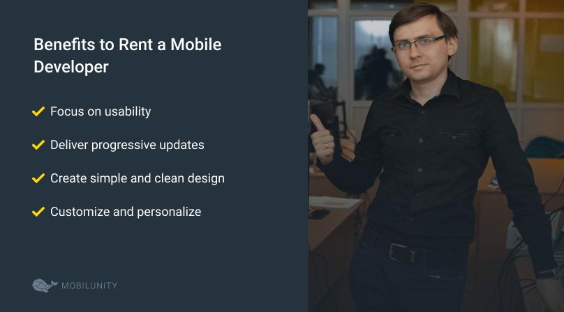 advantages of renting a mobile developer