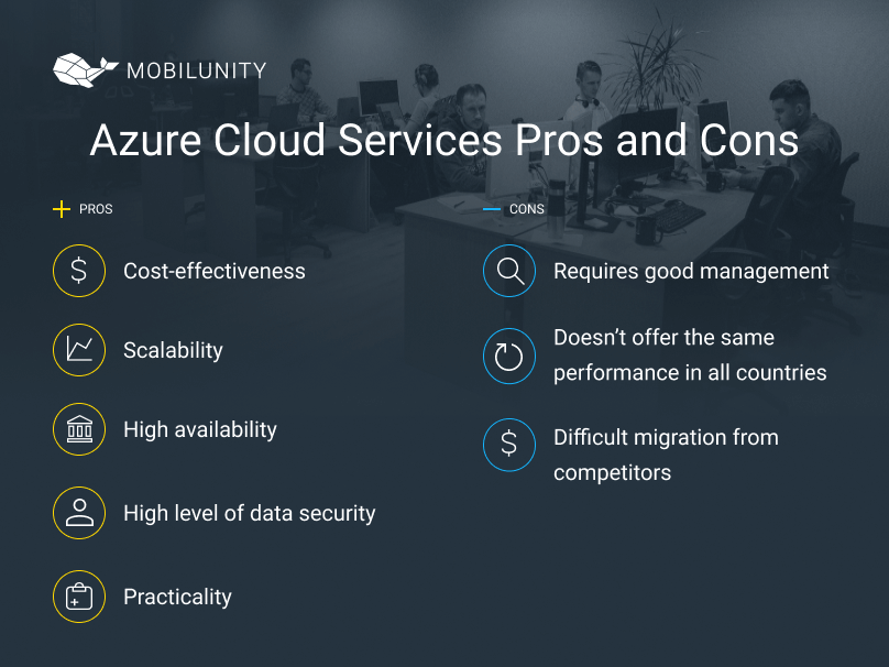 azure cloud services advantages and disadvantages