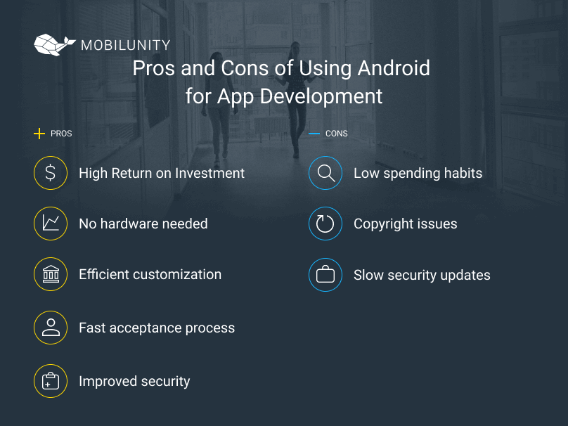 benefits and limitations of android usage for app development