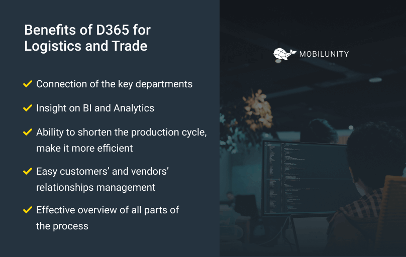 benefits of dynamics ax distribution and trade