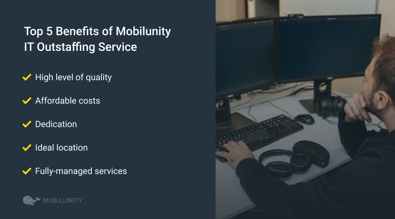 benefits of mobilunity IT outstaffing service