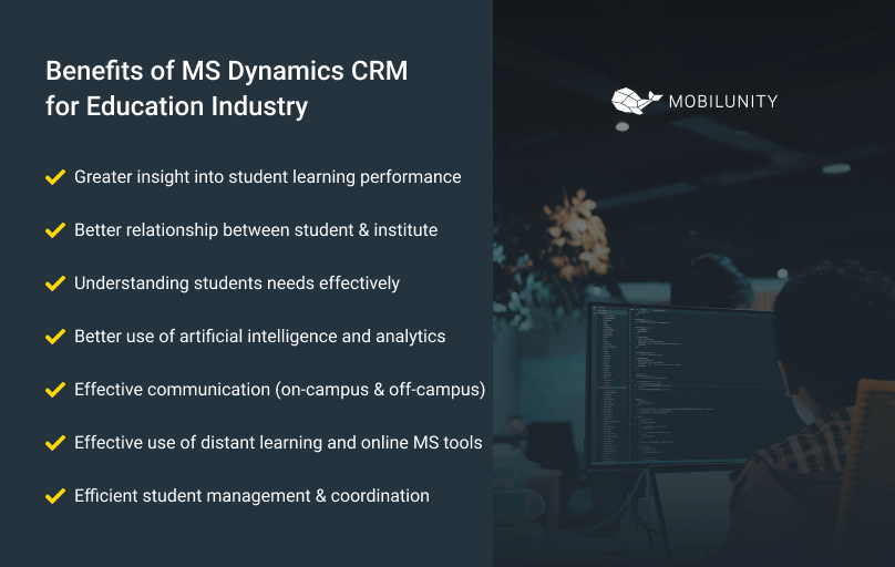 ms dynamics crm for educational institutions benefits