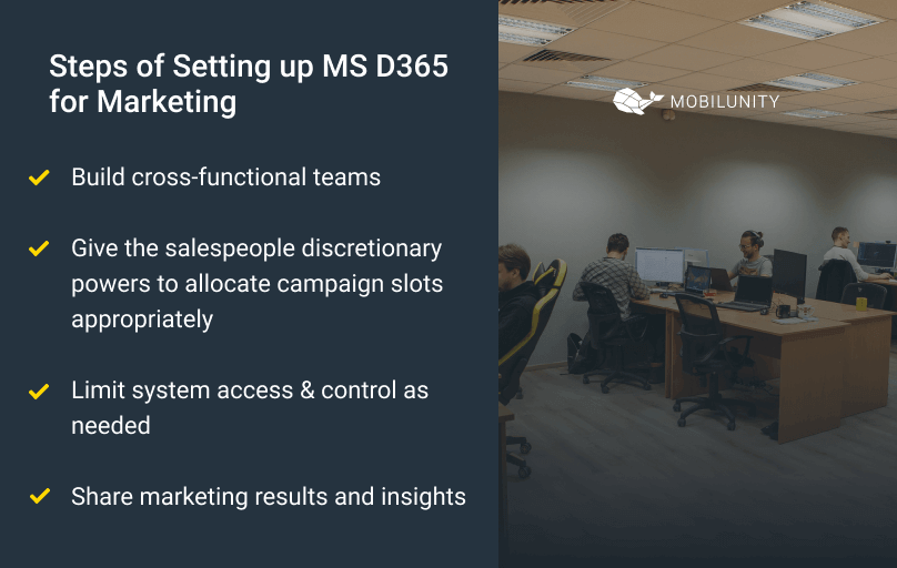 dynamics 365 for marketing implementation steps