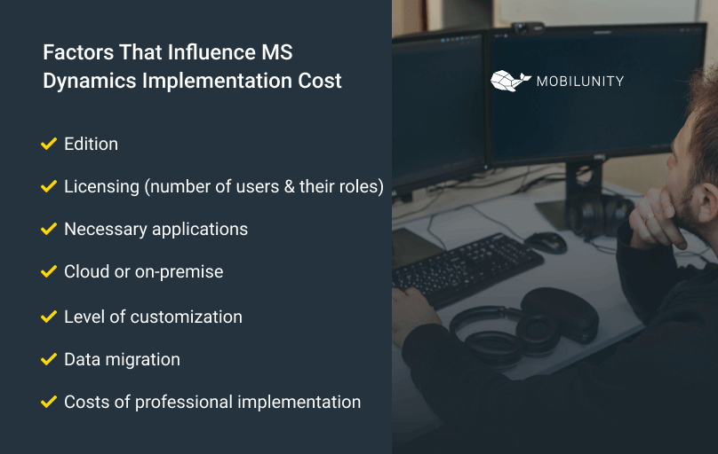 factors that influence the cost of dynamics 365 distribution and trade implementation