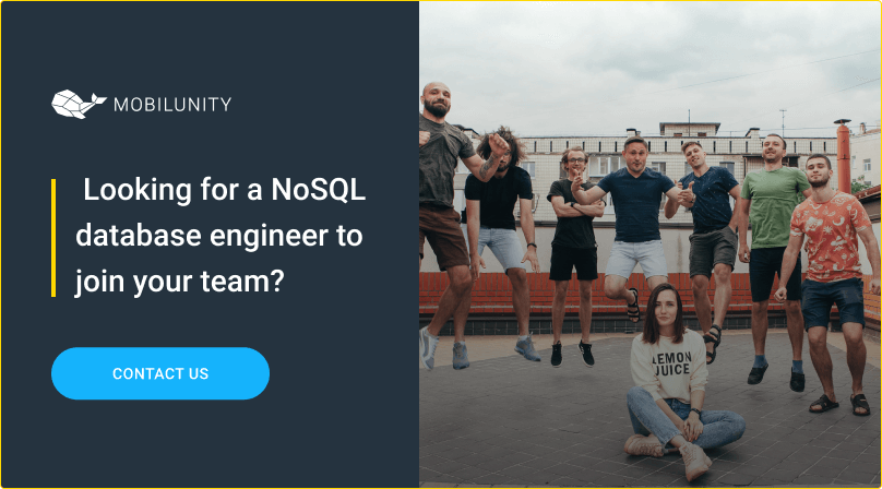 find a skille nosql database engineer at mobilunity