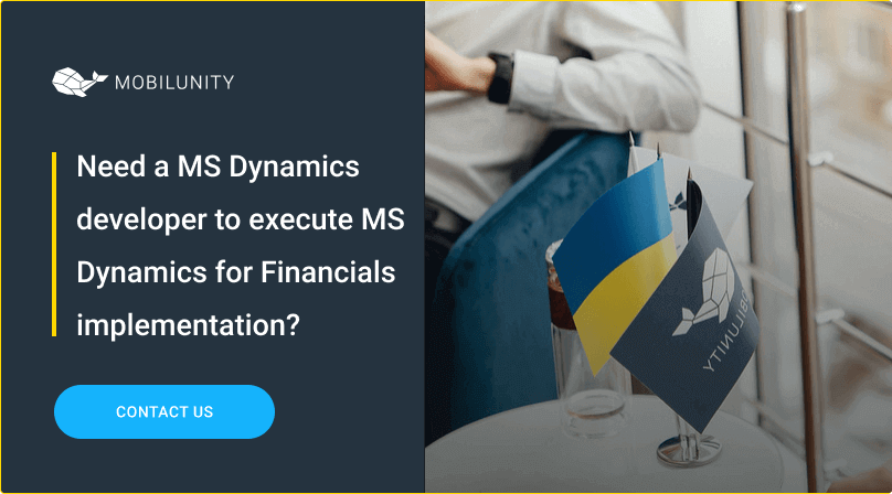 find at mobilunity ms dynamics coder to implement d365 for financials