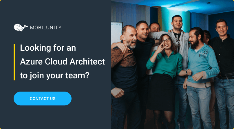 hire azure cloud architect at mobilunity