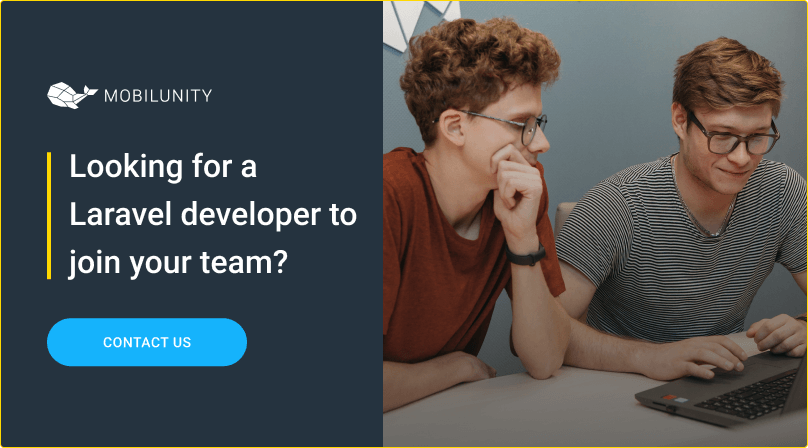hire laravel developer at mobilunity