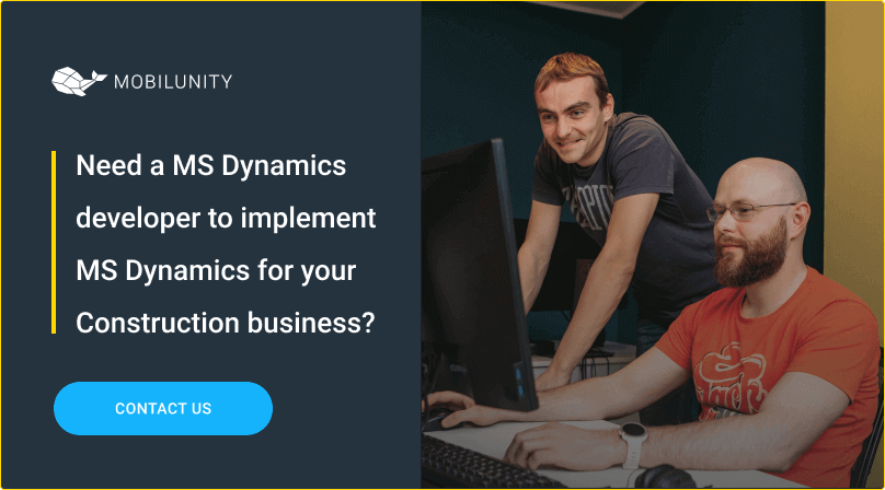 hire ms dynamics devs for ms dynamics implementation in construction