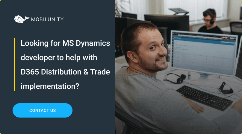 hire ms dynamics programmer to implement d365 for logistics