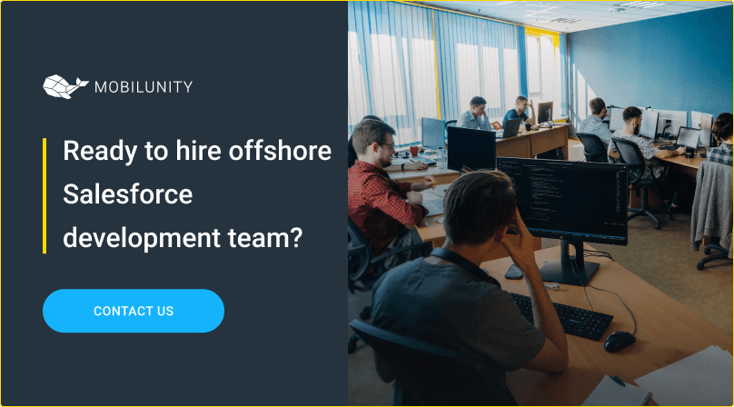 hire offshore salesforce development team at mobilunity