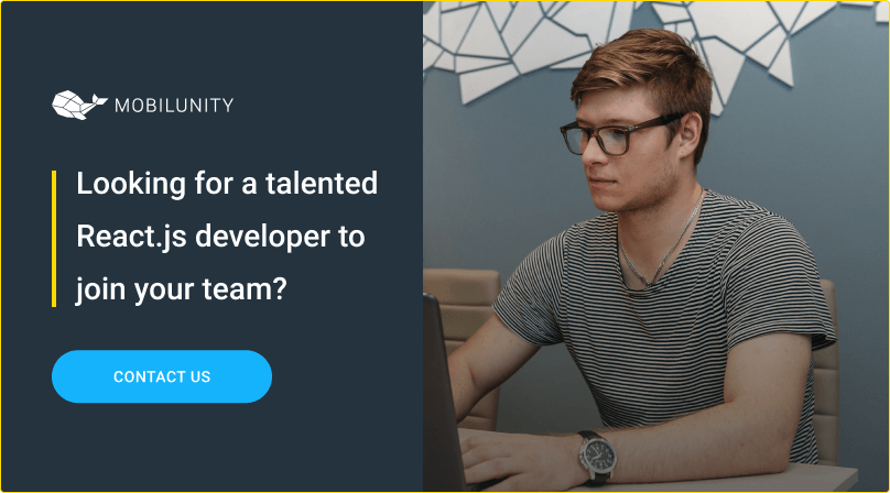 hire react js programmer at mobilunity