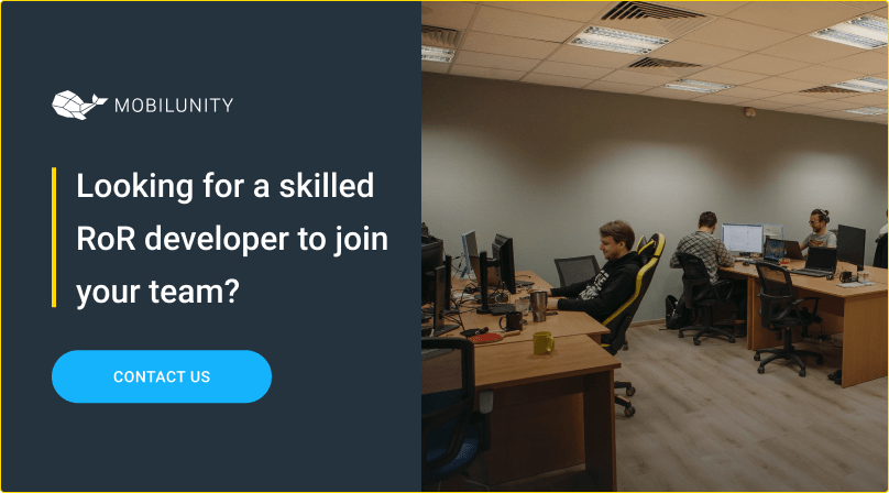 hire ror developer at mobilunity
