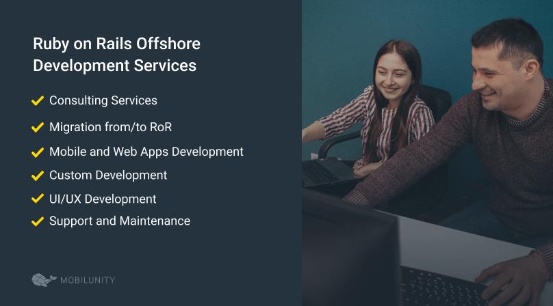 list of offshore ror development services