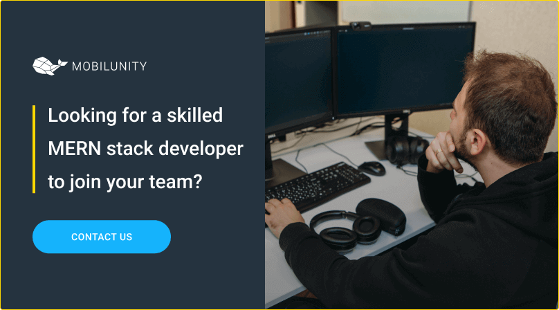 mern stack developer to hire at mobilunity