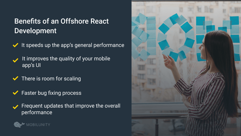 offshore react development benefits