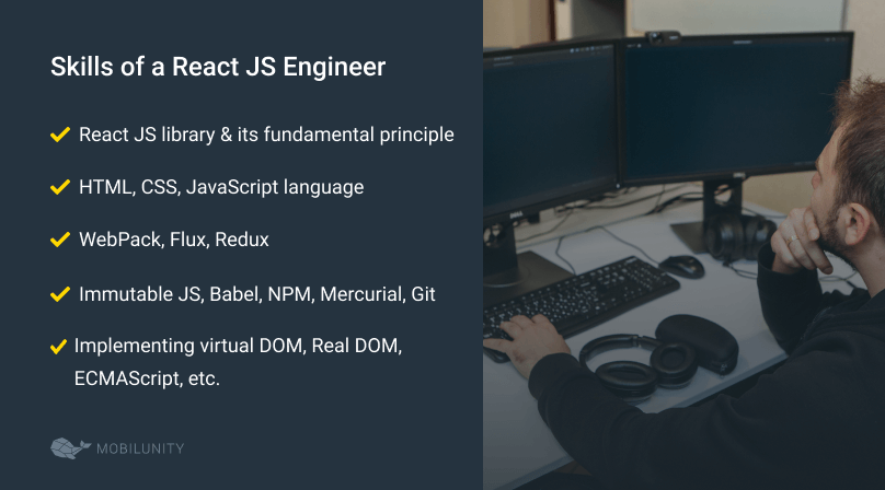 react engineers required qualifications
