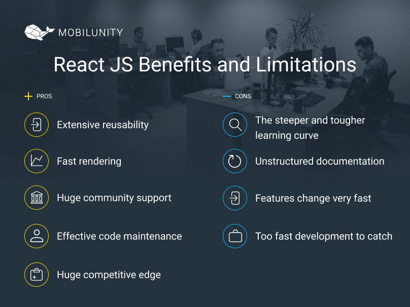 react js development pros and cons