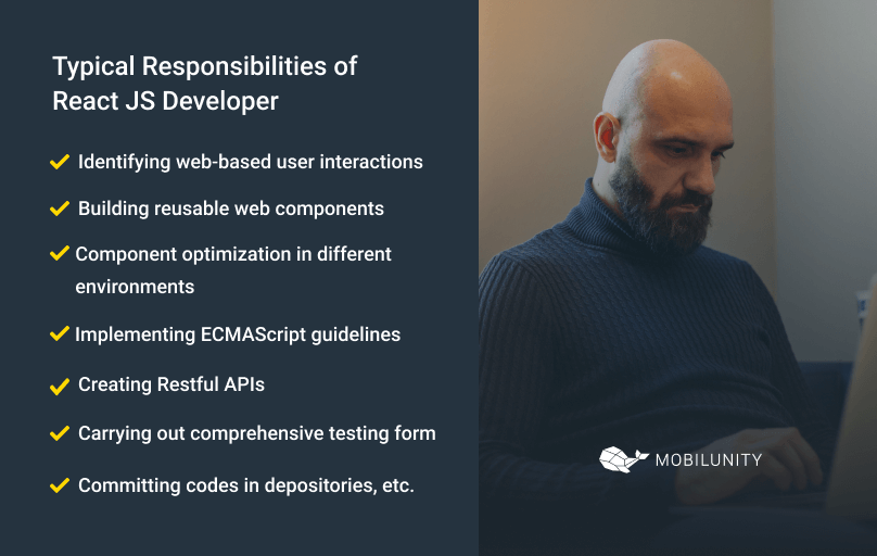 react js engineer typical roles and responsibilities