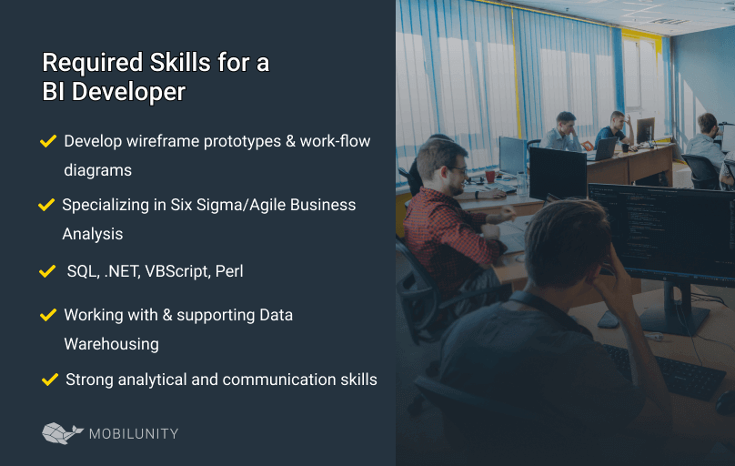required set of skills for a bi developer