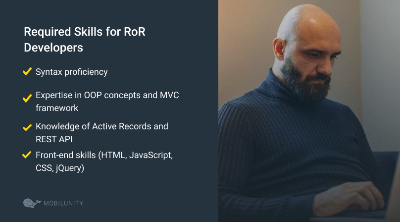 required set of skills for a ror coder