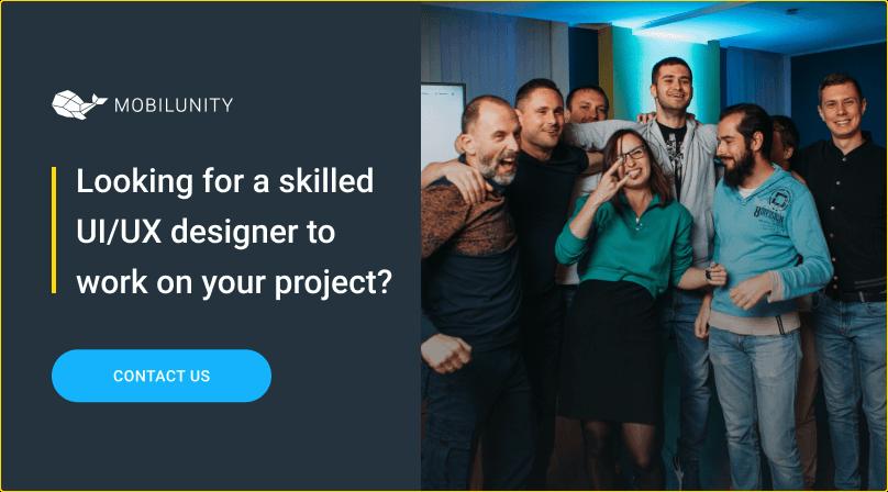 skilled UI UX designer to hire