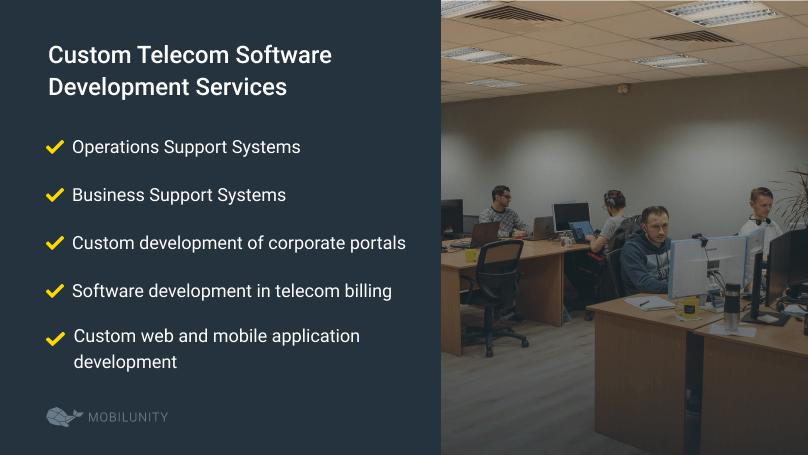 list of telecom software development services