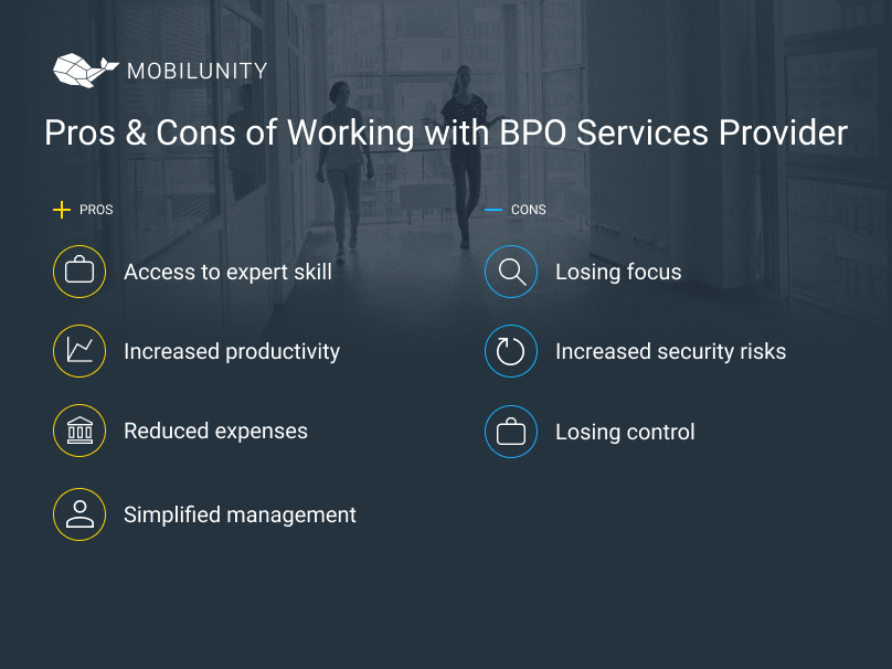 advantages and disadvantages of working with bpo services providers