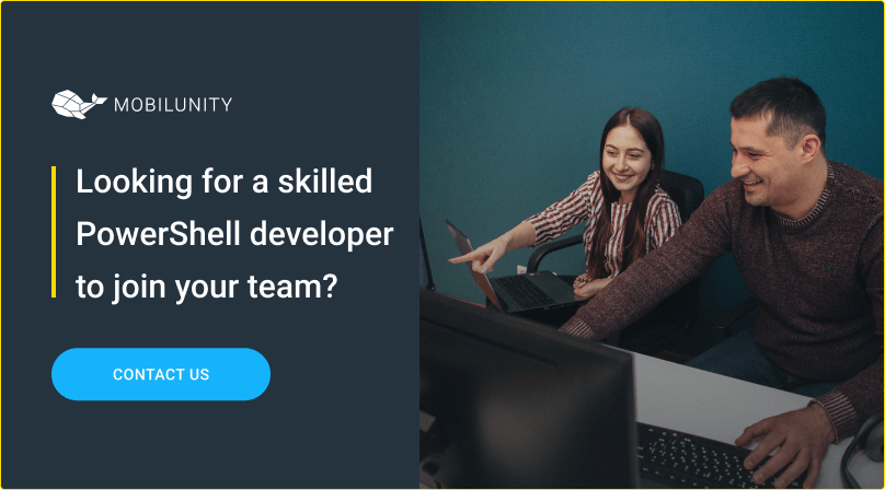 hire powershell developer at mobilunity