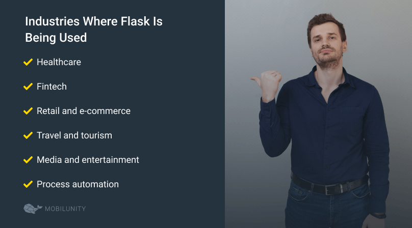 list of industries where flask is being used