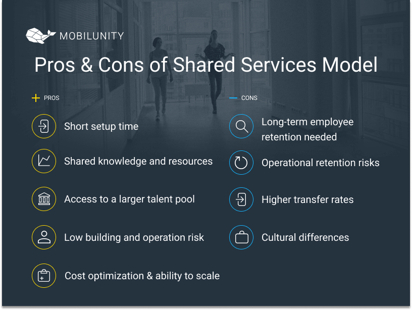 shared services model benefits and limitations