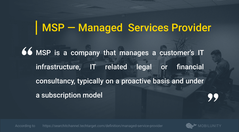 managed service provider or msp definition