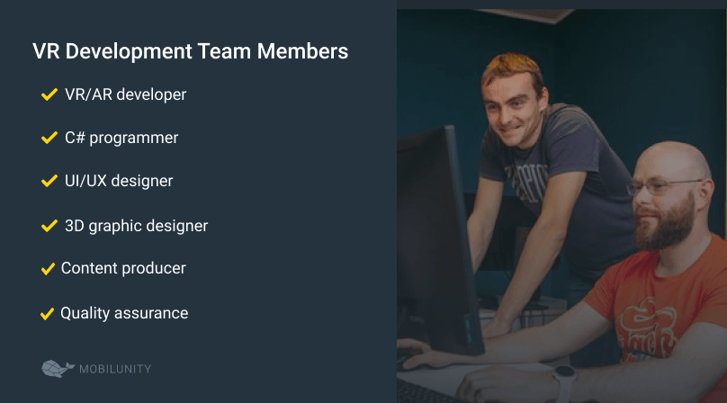 vr development team members
