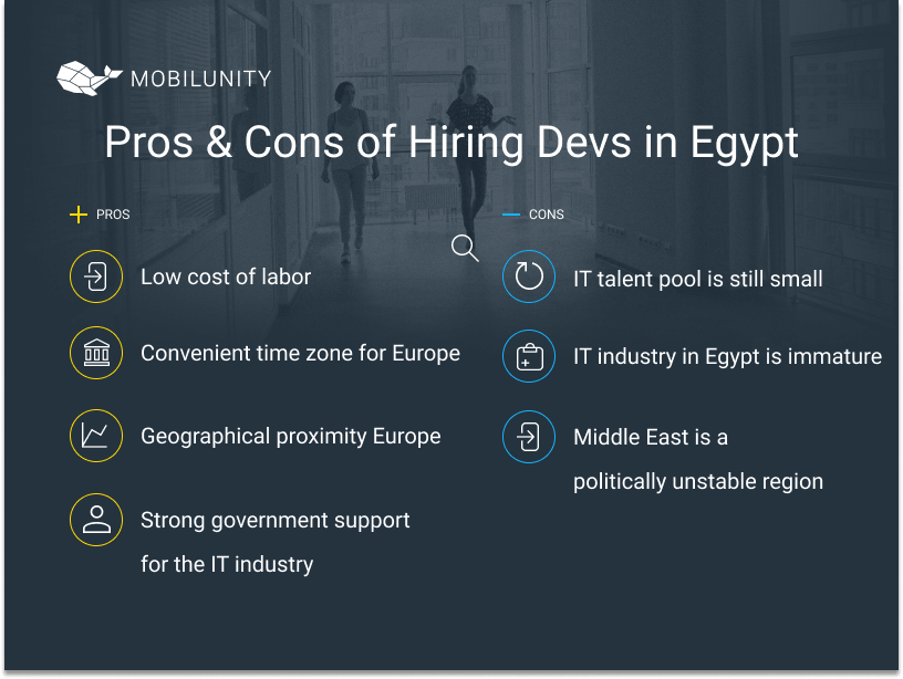 hire Egyptian developers pros and cons