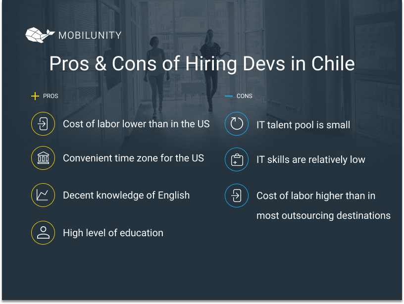 pros and cons of hiring devs in chile