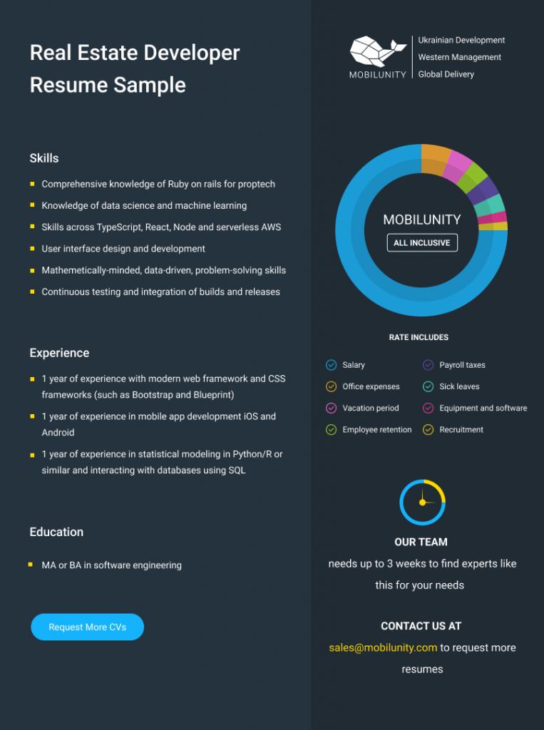 proptech developer resume