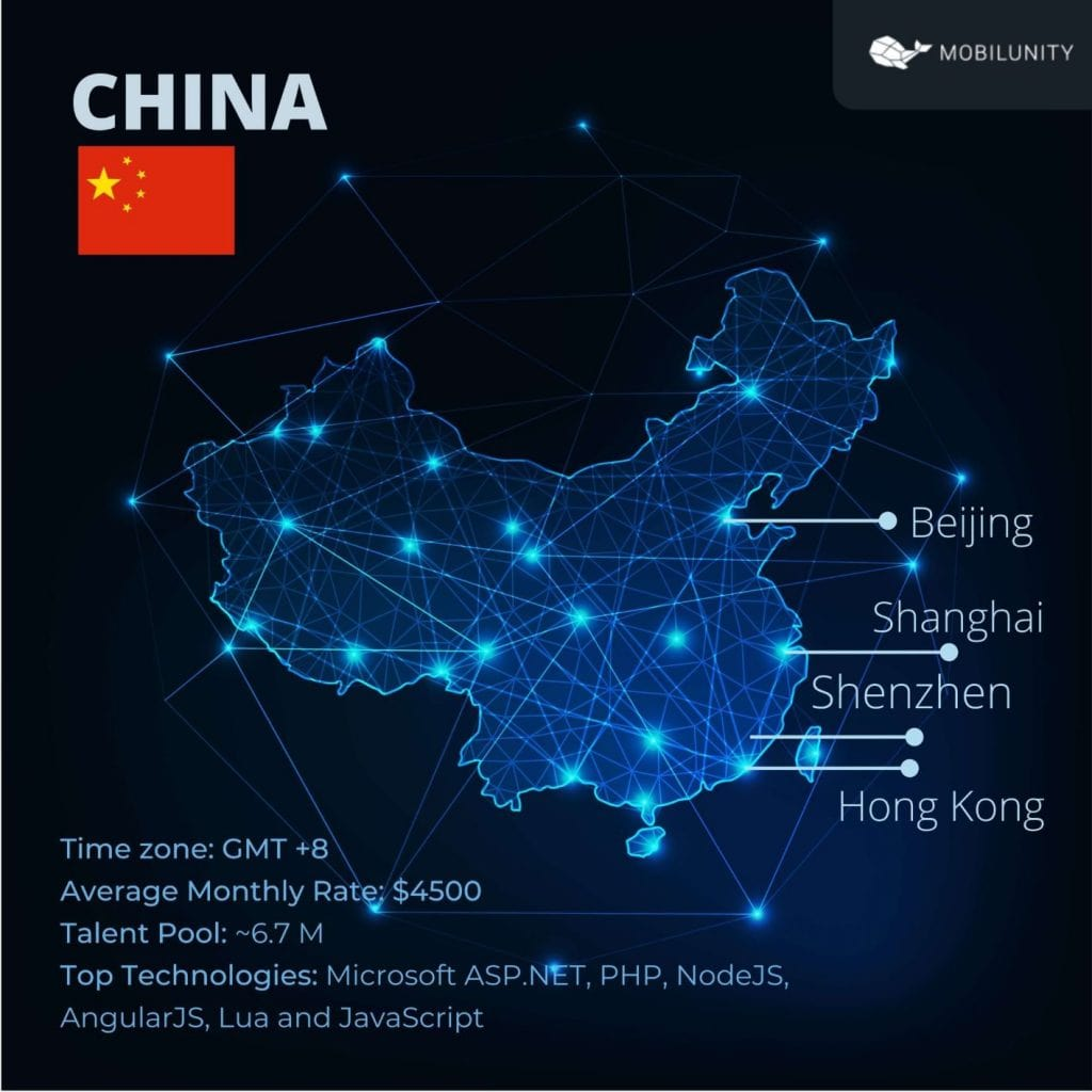 china software development profile