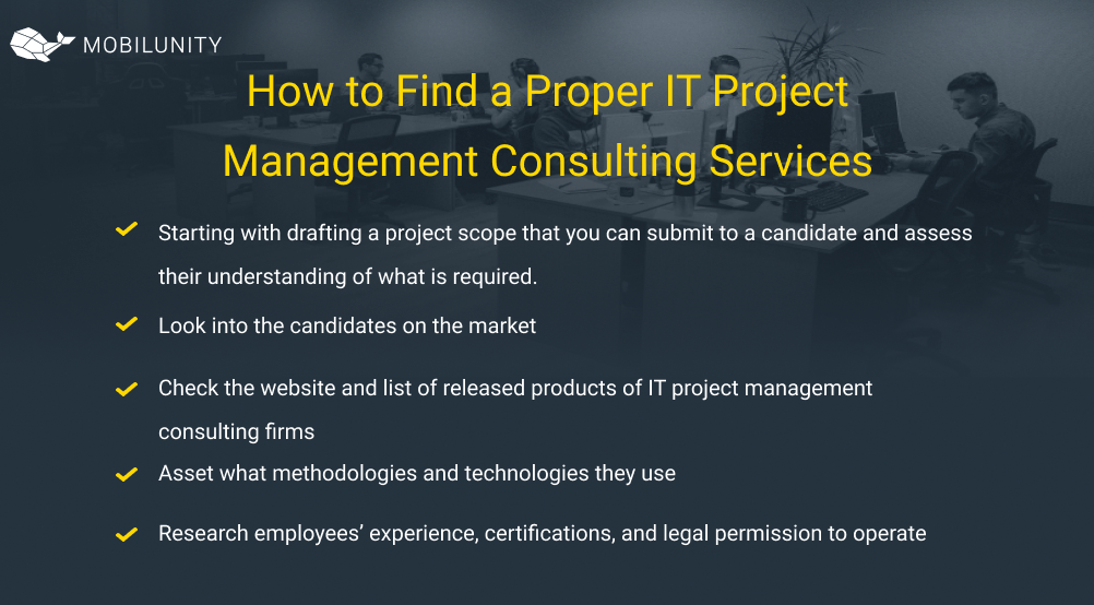 How to Find a Proper IT Project Management Consulting Services